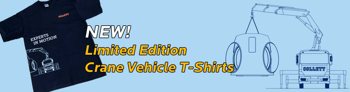 NEW! Limited Edition Crane Vehicle T-Shirts