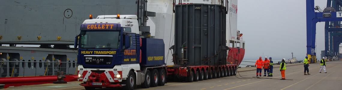 Collett Heavy Lift Delivering Drax Power Station Transformers