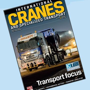 International Cranes & Specialized Transport Magazine Cover for Kype Muir