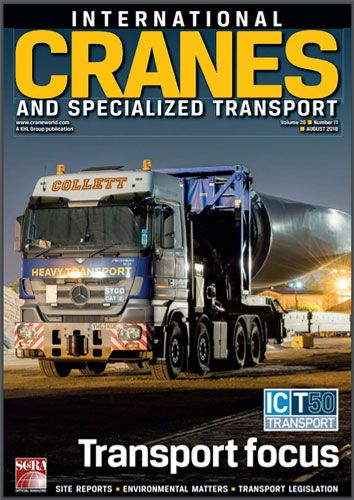 International Cranes & Specialized Transport Magazine Cover for Collett and Kype Muir Wind Farm