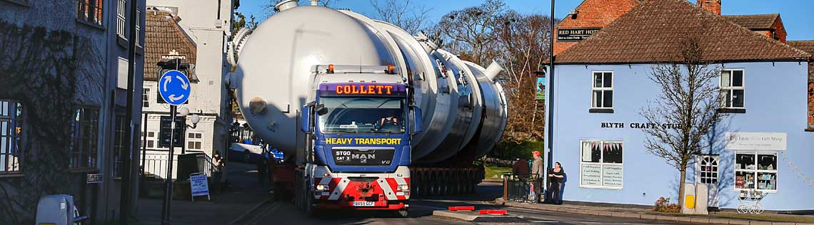 140 Tonne Deaerator Vessel from Kilnhurst to Immingham