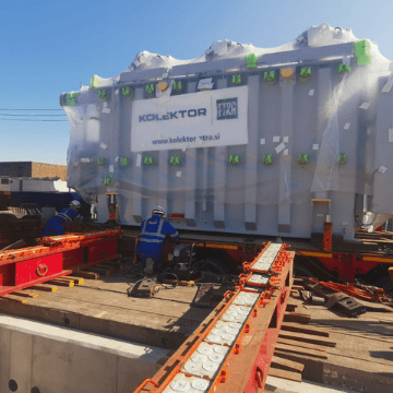 Delivering a 68Te transformer from Slovenia to Tilbury Substation