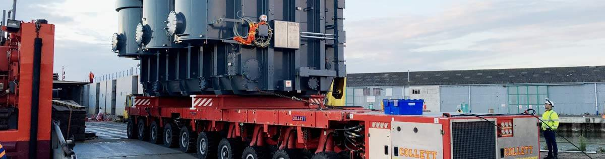 SPMT Transport for Galloper Onshore Substation Transformer