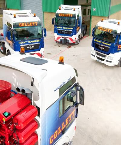 Collett Specialist Crane Vehicles, General Freight Haulage & Warehousing Facilities