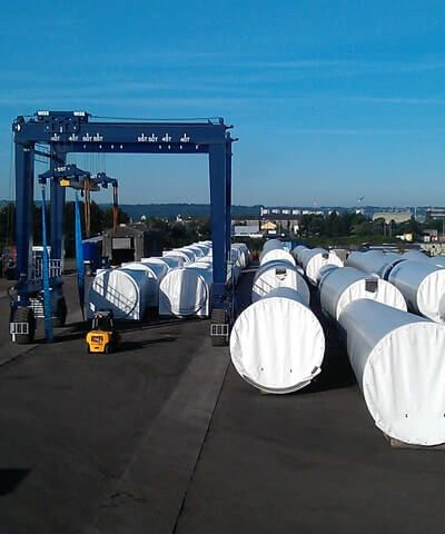 Portside Outdoor Storage for Abnormal Load Transport
