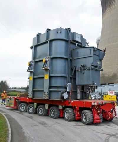 Heavy Lift SPMT & Jacking & Skidding for Industrial Generators
